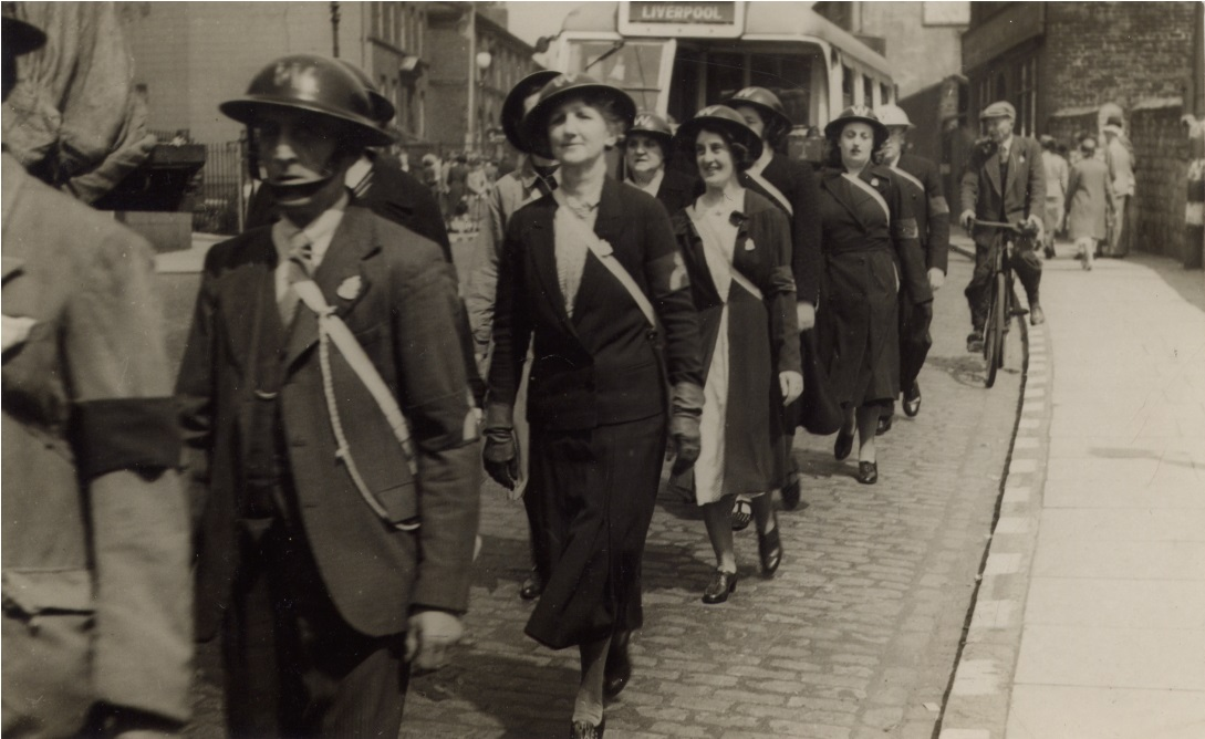 ARP Wardens marching down High Street