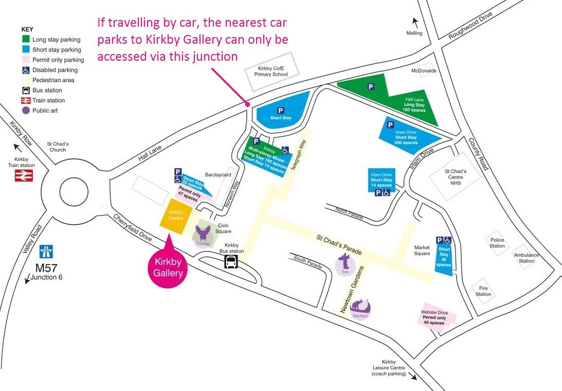 Kirkby Gallery map